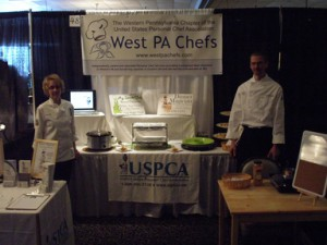 Chef JoAnn and Chef Tim at Our Valley Cooks Recipe Challenge and Food Expo